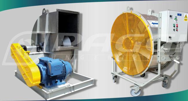 Diferencias entre ventiladores axiales y centrífugos